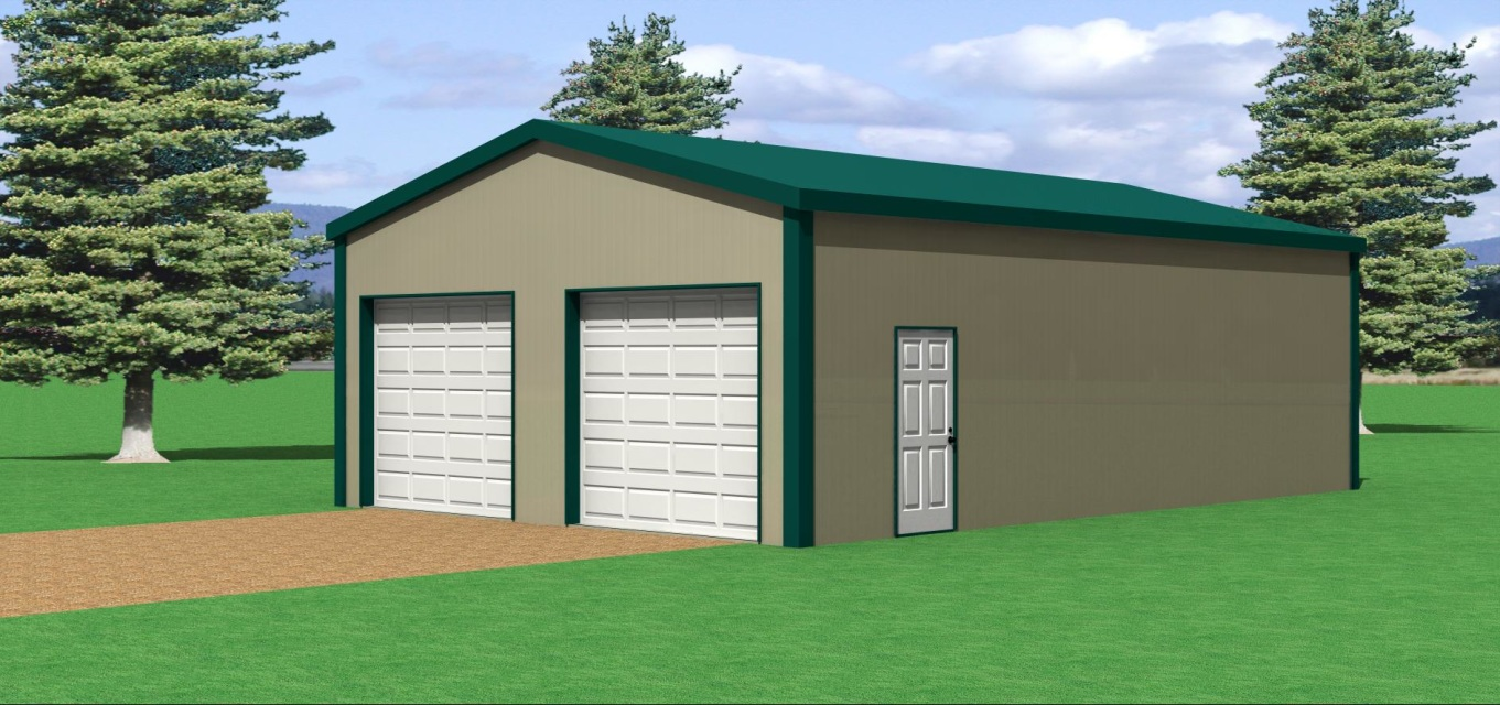24 39 w x 36 39 l pole barn for 30 x 60 garage plans