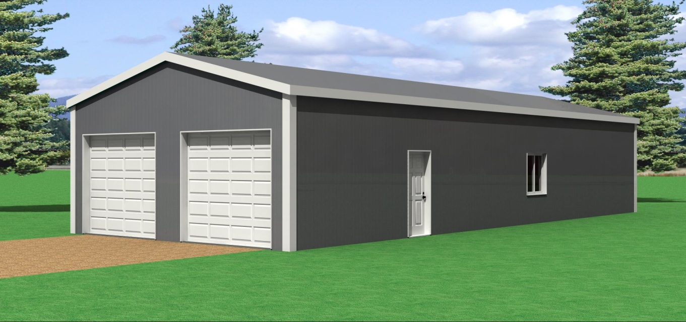 24 39 w x 60 39 l pole barn for 30 x 60 garage plans