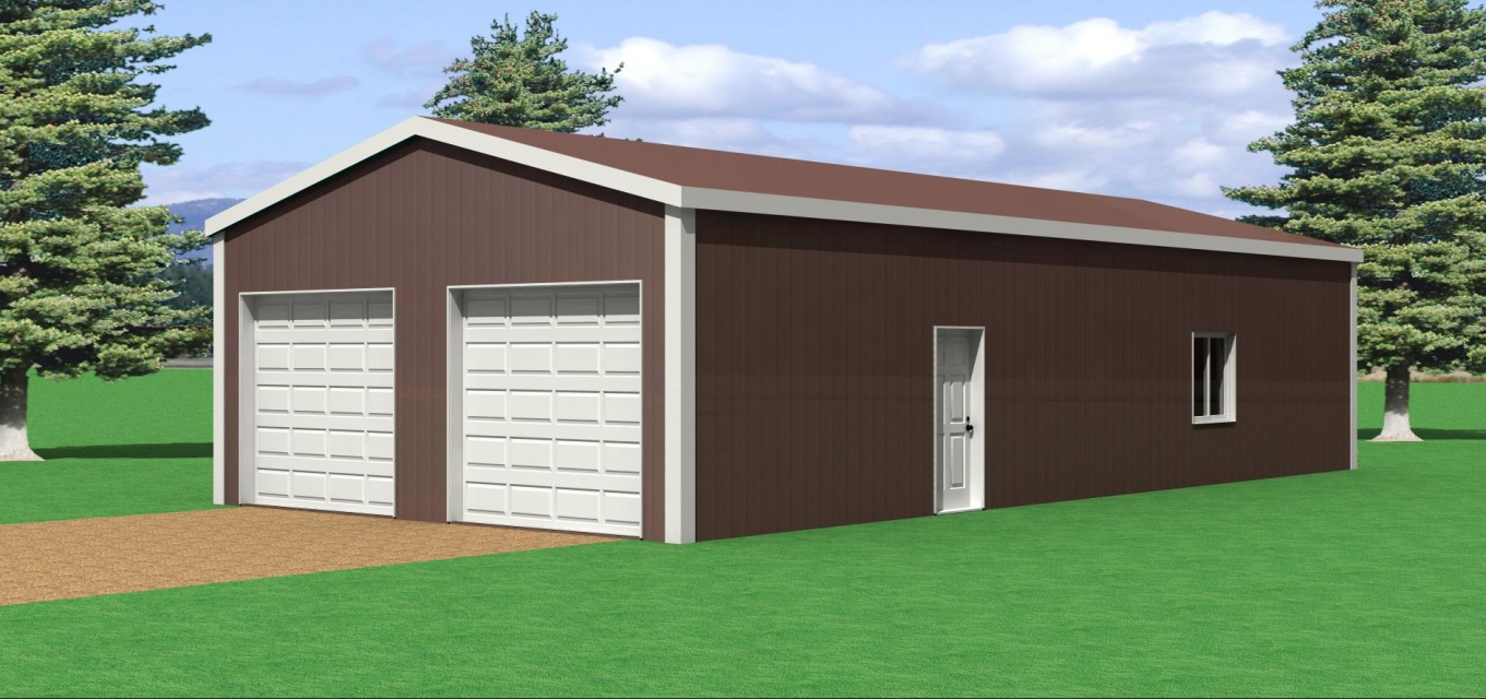 24 39 w x 50 39 l pole barn for 50 x 60 garage plans